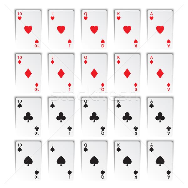 Szett királyi izolált fehér szívek gyémántok Stock fotó © kurkalukas