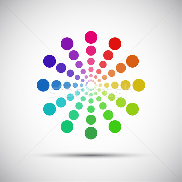 Color palette of wheels on a gray background, vector illustration Stock photo © kurkalukas