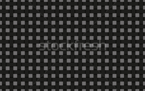 Black weave abstract background, black interlaced grid with shadows Stock photo © kurkalukas