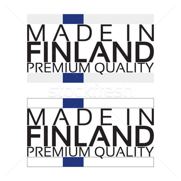 Made in Finland icon, premium quality sticker with Finnish colors, vector illustration isolated on w Stock photo © kurkalukas