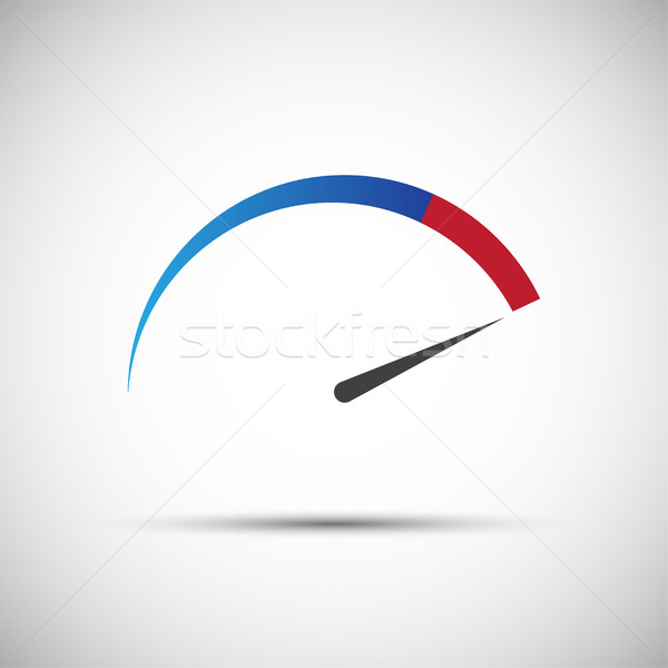 Simple vector thermometer, tachometer,  speedometer icon Stock photo © kurkalukas