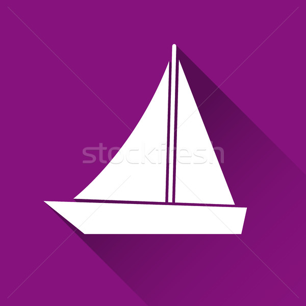 Simple ship icon, boat symbol, modern flat style icon, vector il Stock photo © kurkalukas