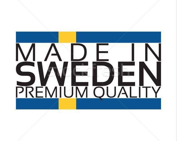 Швеция икона премия качество наклейку цветами Сток-фото © kurkalukas