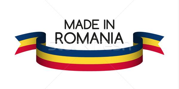 лента румынский триколор символ флаг Сток-фото © kurkalukas