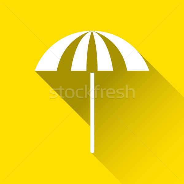 Parasol ikona podróży wakacje symbol nowoczesne Zdjęcia stock © kurkalukas