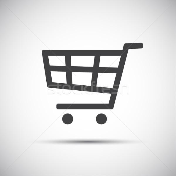 простой Корзина икона торговых магазине корзины Сток-фото © kurkalukas
