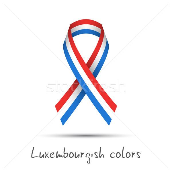 Modernes vecteur ruban tricolor isolé Photo stock © kurkalukas