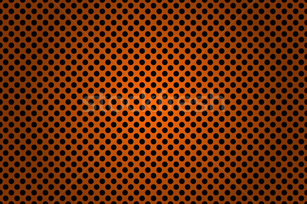 Perforated black and orange metallic background, abstract background vector illustration Stock photo © kurkalukas