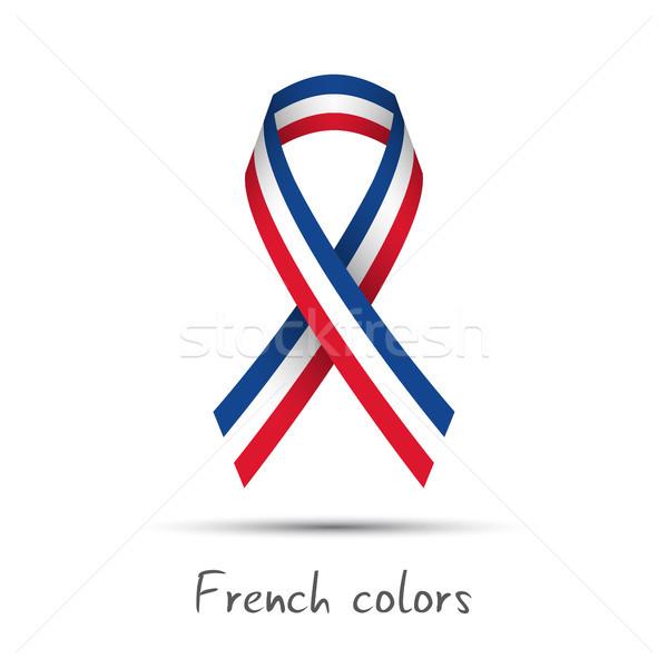 Moderna vector cinta francés tricolor Foto stock © kurkalukas