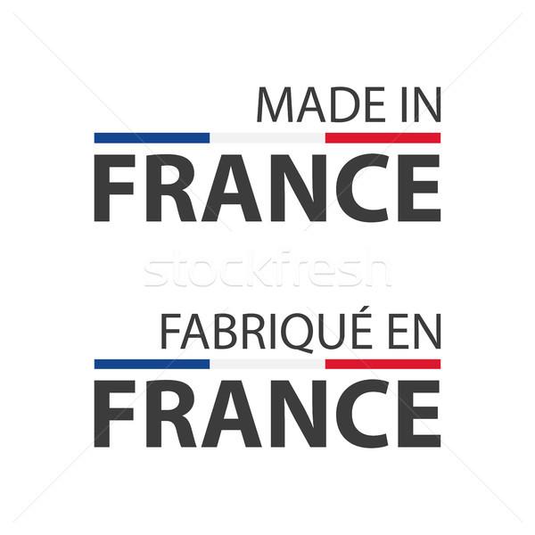 Twee eenvoudige vector symbolen Frankrijk frans Stockfoto © kurkalukas