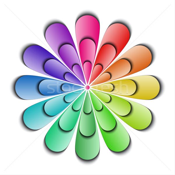 Сток-фото: цвета · аннотация · цветок · изолированный · белый · бумаги