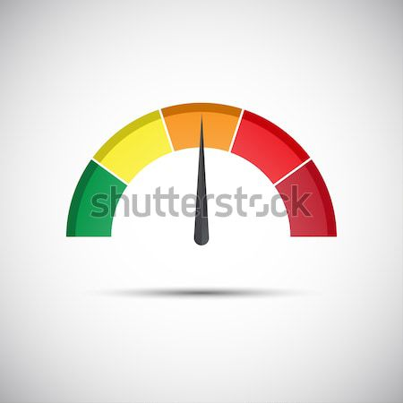 Color vector tachometer, speedometer and performance measurement icon, illustration for your website Stock photo © kurkalukas