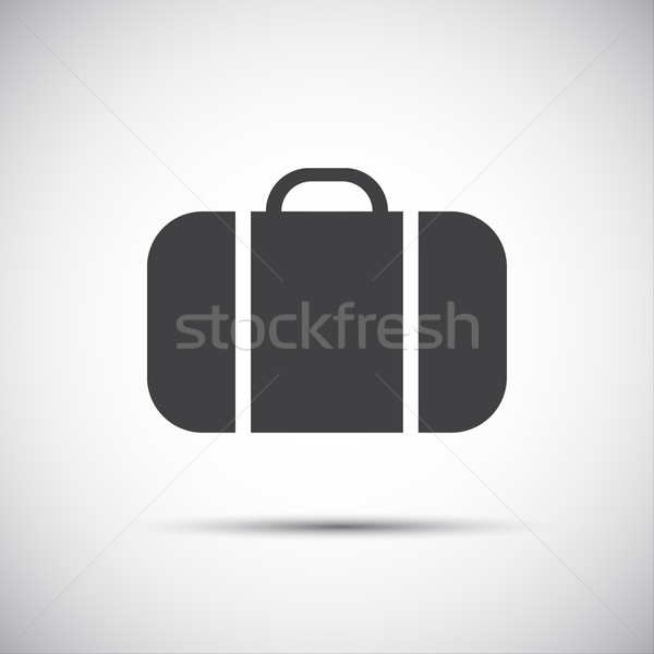 Basit gri bavul ikon web sitesi tatil Stok fotoğraf © kurkalukas
