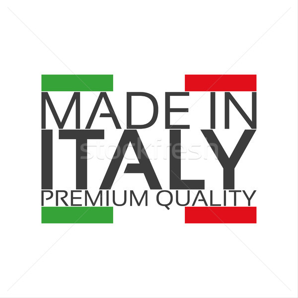 Made in Italy, premium quality sticker with Italian color, vector illustration Stock photo © kurkalukas