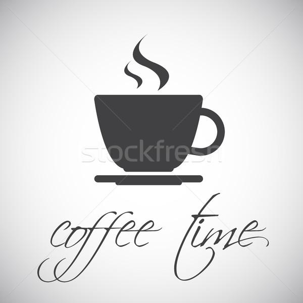 простой вектора Кубок кофе икона изолированный Сток-фото © kurkalukas
