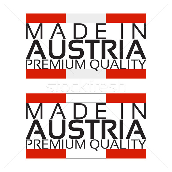 Made in Austria icon, premium quality sticker with Austrian colors, vector illustration isolated on  Stock photo © kurkalukas