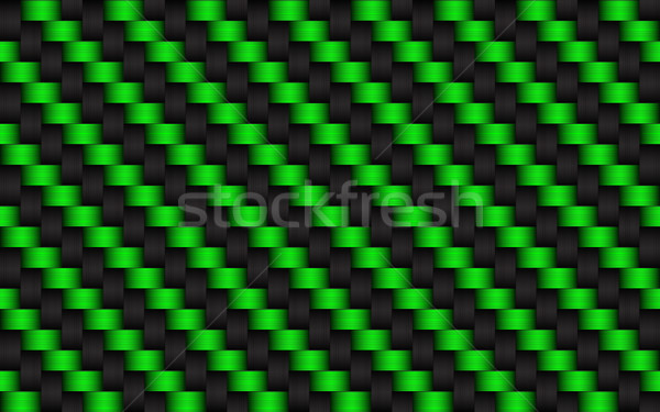 Black and green abstract background, metallic carbon look, vecto Stock photo © kurkalukas