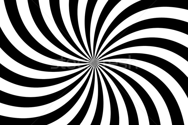 Black and white spiral background, swirling radial pattern, abstract vector illustration Stock photo © kurkalukas