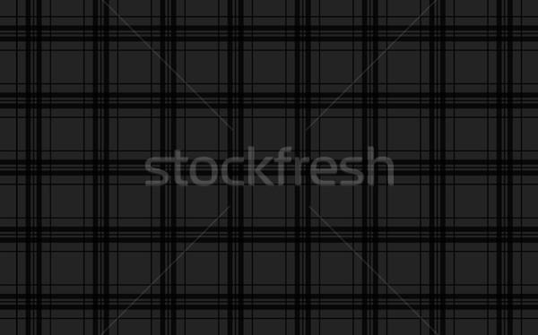 Black abstract background, seamless tartan vector pattern Stock photo © kurkalukas