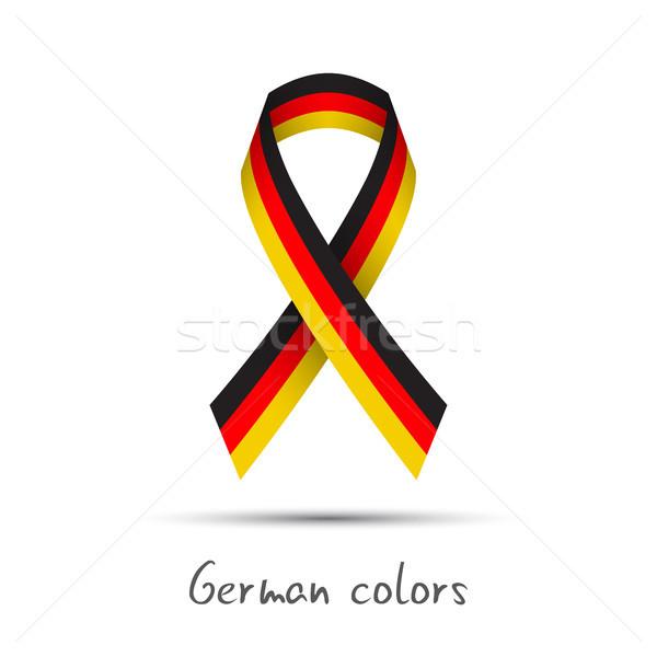 Modern renkli vektör şerit üç renkli yalıtılmış Stok fotoğraf © kurkalukas
