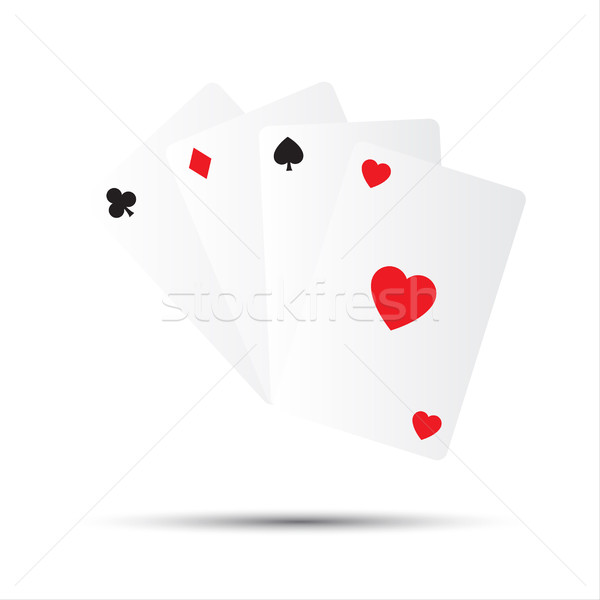 Simple vector playing cards isolated on white background Stock photo © kurkalukas