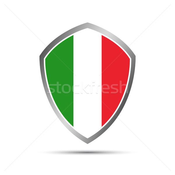 простой итальянский форма щит вектора элемент Сток-фото © kurkalukas