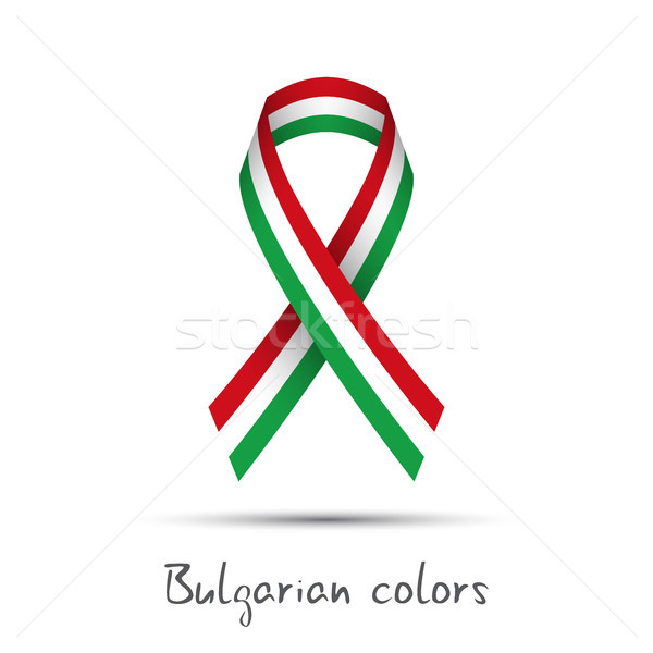 Nowoczesne kolorowy wektora wstążka tricolor odizolowany Zdjęcia stock © kurkalukas