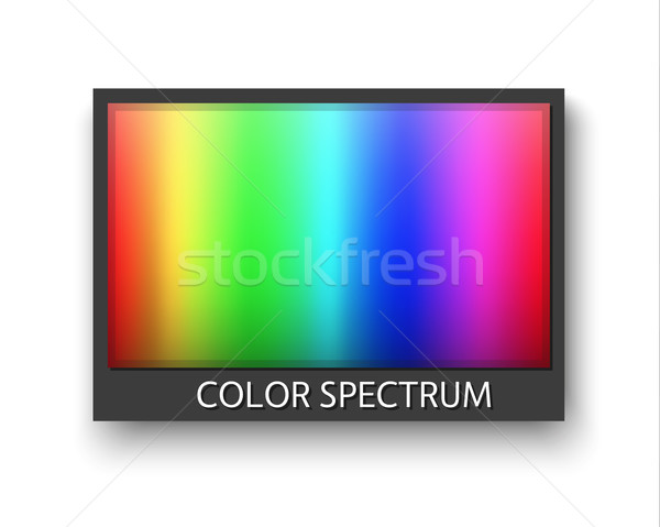 Simple grey frame with color spectrum isolaten on white background with shadow Stock photo © kurkalukas