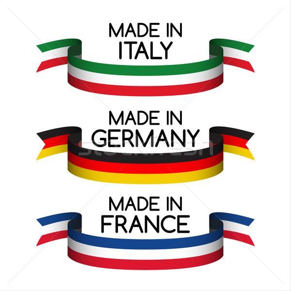 вектора набор Германия Франция Италия Сток-фото © kurkalukas