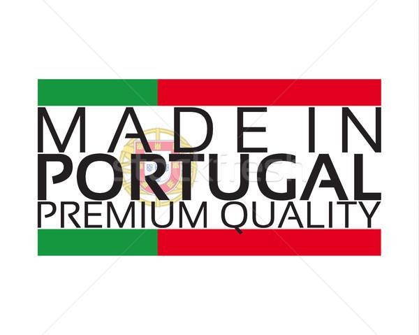 Португалия икона премия качество наклейку цветами Сток-фото © kurkalukas