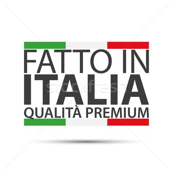 Italia prima calidad simple vector símbolo Foto stock © kurkalukas