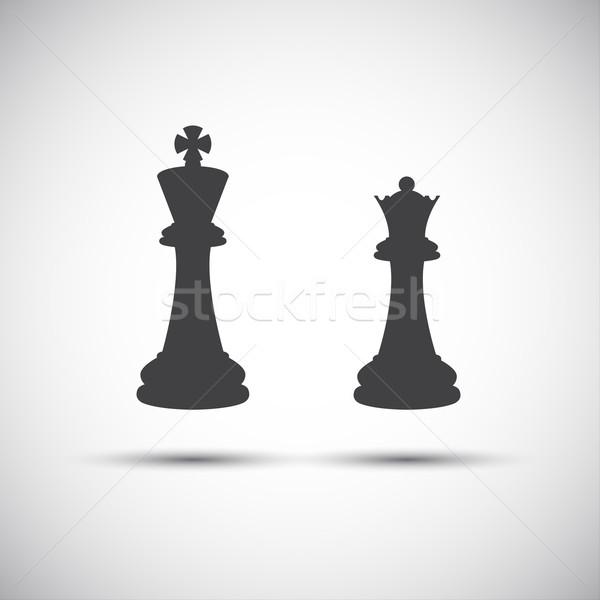 простой иконки царя королева аннотация Сток-фото © kurkalukas