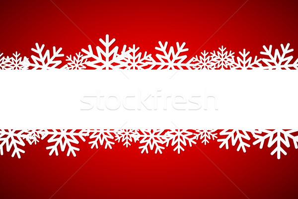 Рождества снежинка пространстве простой праздник Сток-фото © kurkalukas