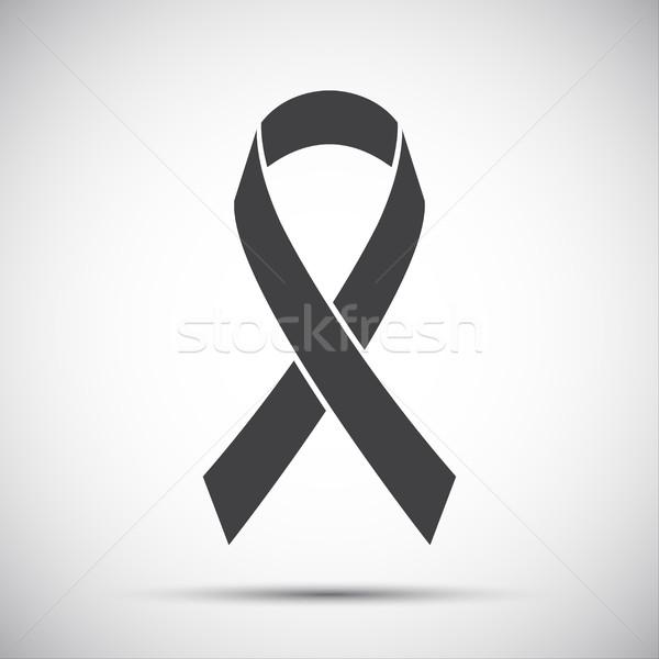 Simple grey ribbon icon, vector illustration Stock photo © kurkalukas