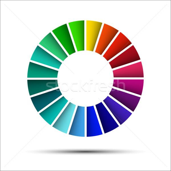 Сток-фото: цвета · палитра · изолированный · белый · бумаги · книга