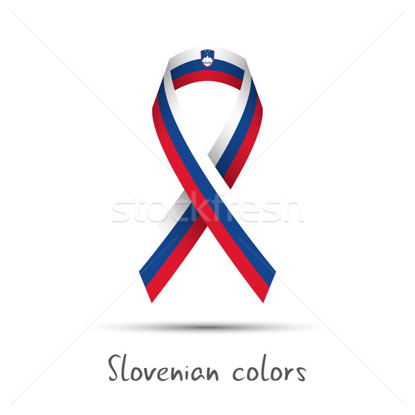 Modern colored vector ribbon with the Slovenian tricolor Stock photo © kurkalukas