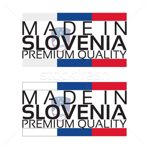 Slovénie icône prime qualité vignette couleurs Photo stock © kurkalukas