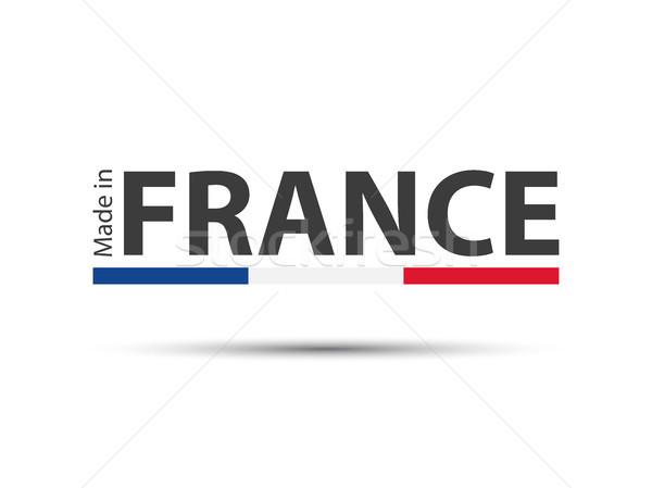 Francja kolorowy wektora symbol francuski tricolor Zdjęcia stock © kurkalukas