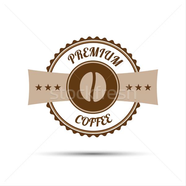 プレミアム コーヒー ステッカー 孤立した 白 デザイン ストックフォト © kurkalukas