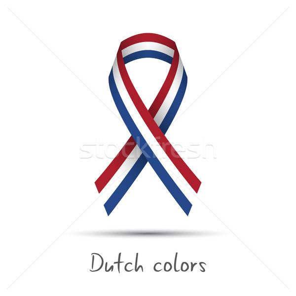 современных вектора лента голландский триколор Сток-фото © kurkalukas