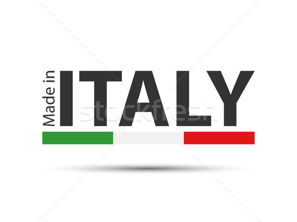 Made in Italy, colored symbol with Italian tricolor isolated on white background Stock photo © kurkalukas