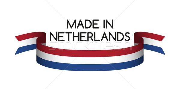 Gekleurd lint nederlands driekleur symbool vlag Stockfoto © kurkalukas