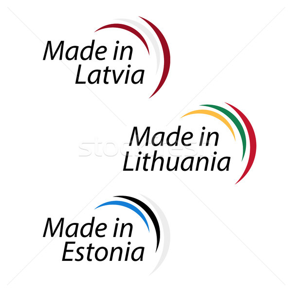 Simple logos Lettonie Lituanie Estonie vecteur Photo stock © kurkalukas