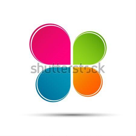 вектора цвета логотип форма изолированный белый Сток-фото © kurkalukas