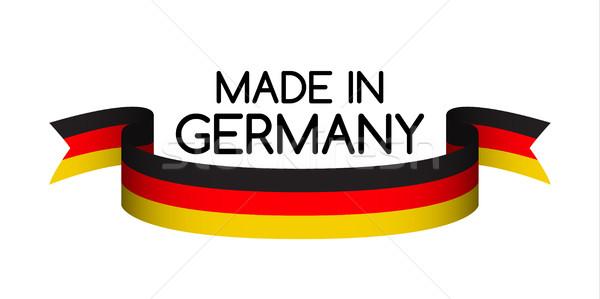 Alemania símbolo cinta tricolor fondo Foto stock © kurkalukas