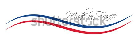 Made in France symbol, colored ribbon with the French tricolor Stock photo © kurkalukas