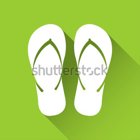 Simple flip flop icon, travel and holiday symbol, modern flat st Stock photo © kurkalukas