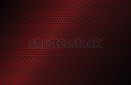 Red geometric polygons background, hexagon symbol, abstract black metallic wallpaper, vector illustr Stock photo © kurkalukas