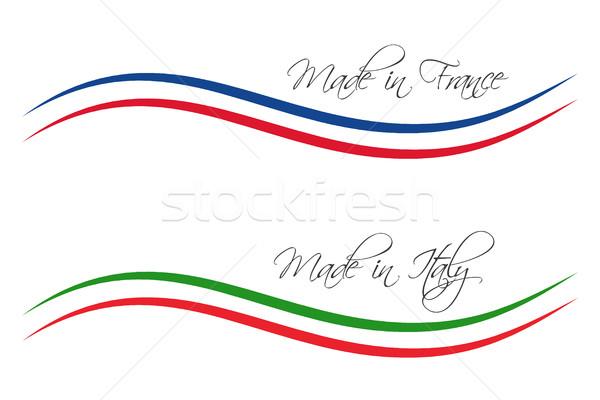 вектора Логотипы изолированный белый продукции Сток-фото © kurkalukas