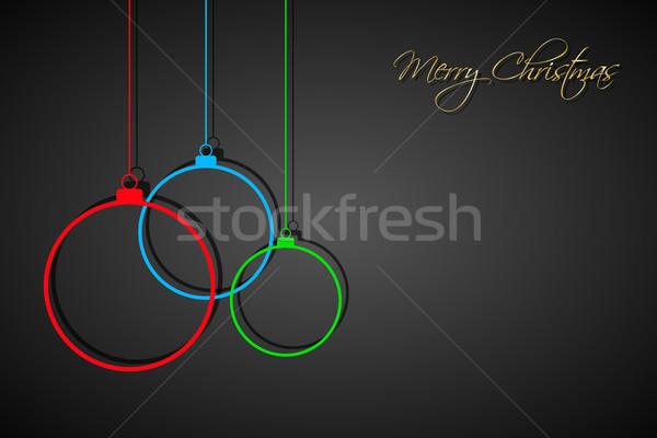 ストックフォト: 3 · カラフル · クリスマス · 黒 · 休日